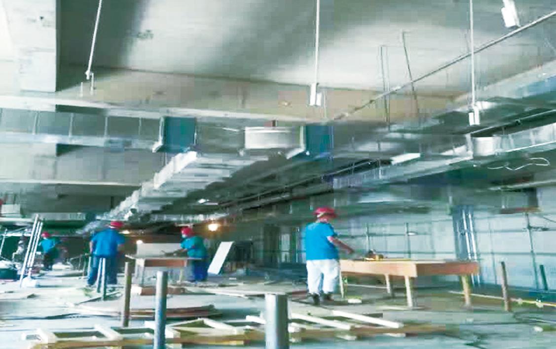 二连浩特国际会展中心施工现场